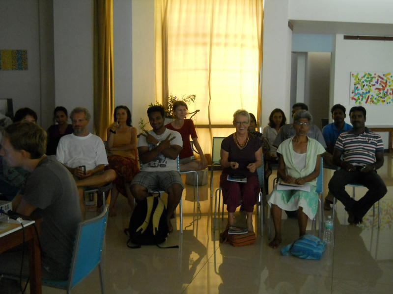 Photographer:renu | Auroville Council members and meeting attendants