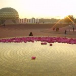 Amphitheatre in Matrimandir, Friday at 4.45am