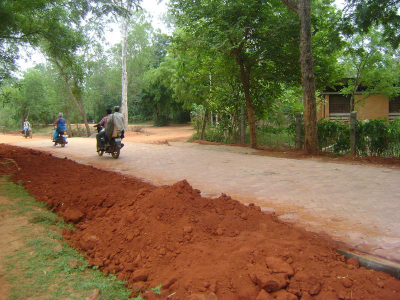 Photographer:Clara | New paved road from Sincerity to Ganesh Bakery