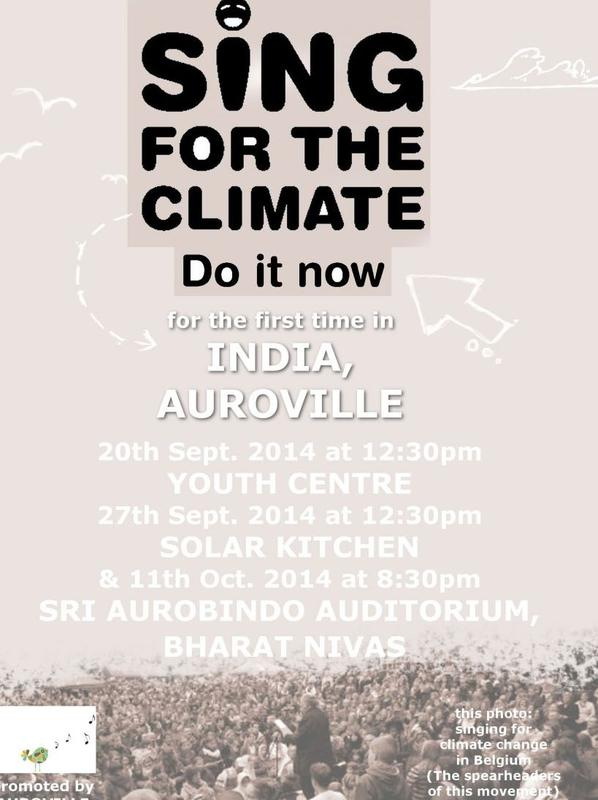 Photographer:Barbara | Sing for the Climate - Do it Now  at Auroville Weekend Farmers' Market