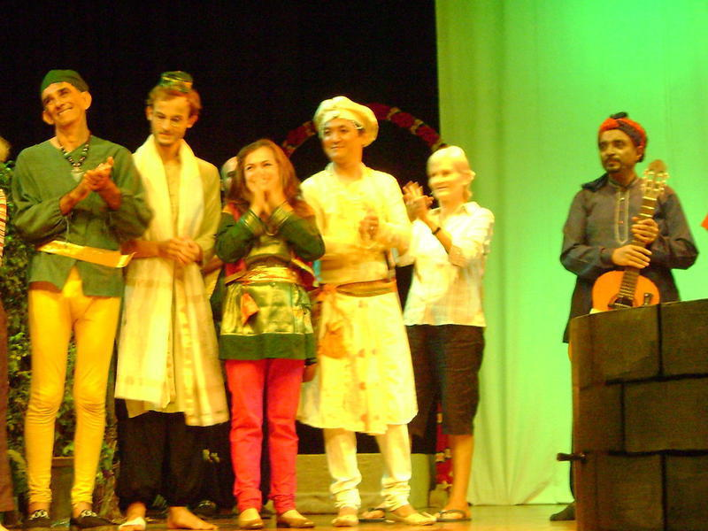Photographer:Auroville Radio archive  | Twelfth Night / Shakespeare by Haimanot(on far right side)