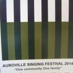 AV Singing Festival, 10th 11th at Sri Aurobindo Auditorium
