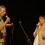 Samadarshana & Stefania singing Piazza Grande, a very famous Italian song