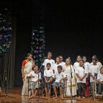 The kids with special needs sang two songs. They spent 6 months in preparing the performance