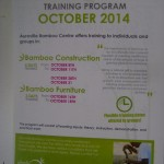 Auroville Bamboo Research Centre workshops for October