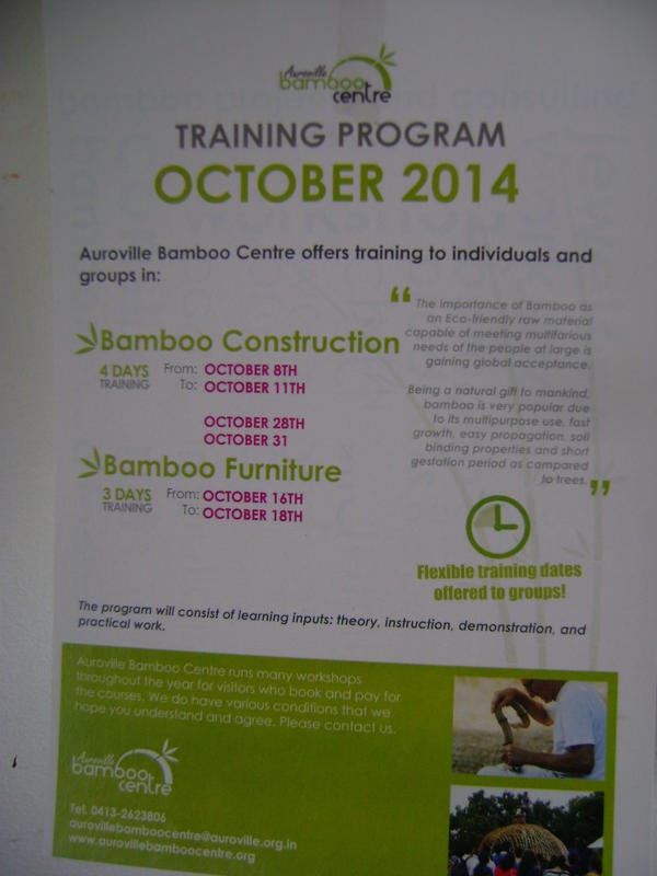 Photographer:Alma | Auroville Bamboo Research Centre workshops for October