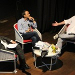 From right: William Dalrymple, Akash Kapur and Director of Alliance Francaise Olivier Litvine.