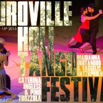 Poster for the 4th edition of the Auroville Holi Tango Festival march 2015