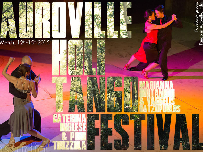 Photographer:Corolian Mia Studio/ graphic Leonard | Poster for the 4th edition of the Auroville Holi Tango Festival march 2015