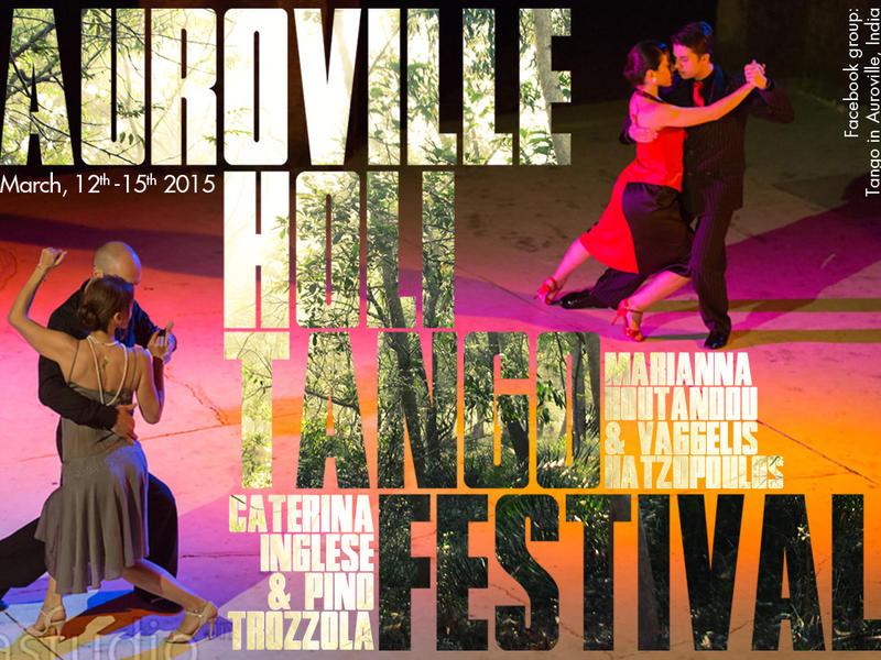 Photographer:Corolian Mia Studio/ graphic Leonard | Poster for the 4th edition of the Auroville Holi Tango Festival march 2015