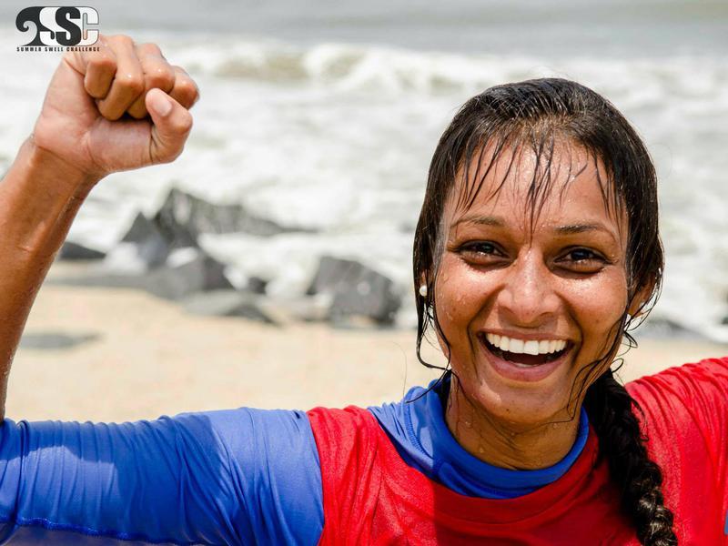 Photographer:Courtesy: BigRush | Suhasini at 3rd Summer Swell Challenge | Pondicherry 2014