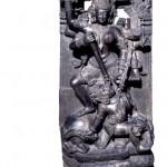 Stone Durga Mahishasuramardini Orissa, eastern India, 13th century AD