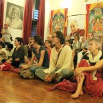 The first floor of the Pavilion of Tibetan Culture was packed