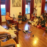 Drikung Kyabgon Chetsang meets with residents of Auroville