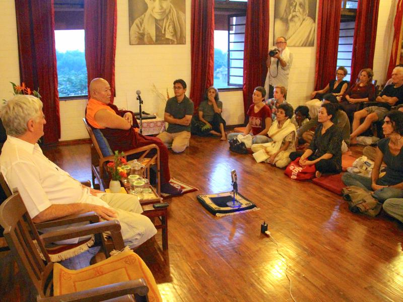 Photographer:Roland | Drikung Kyabgon Chetsang meets with residents of Auroville