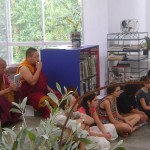 His Holiness Drikung Chetsan Rinpoche visiting Last School