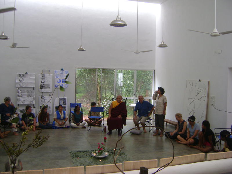 Photographer:Lua | His Holiness Drikung Chetsan Rinpoche visiting Last School