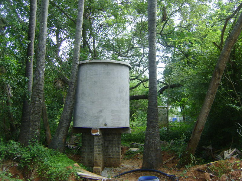 Photographer:Barbara   Water tank at Africa House, Pavilion of African Culture, International Zone