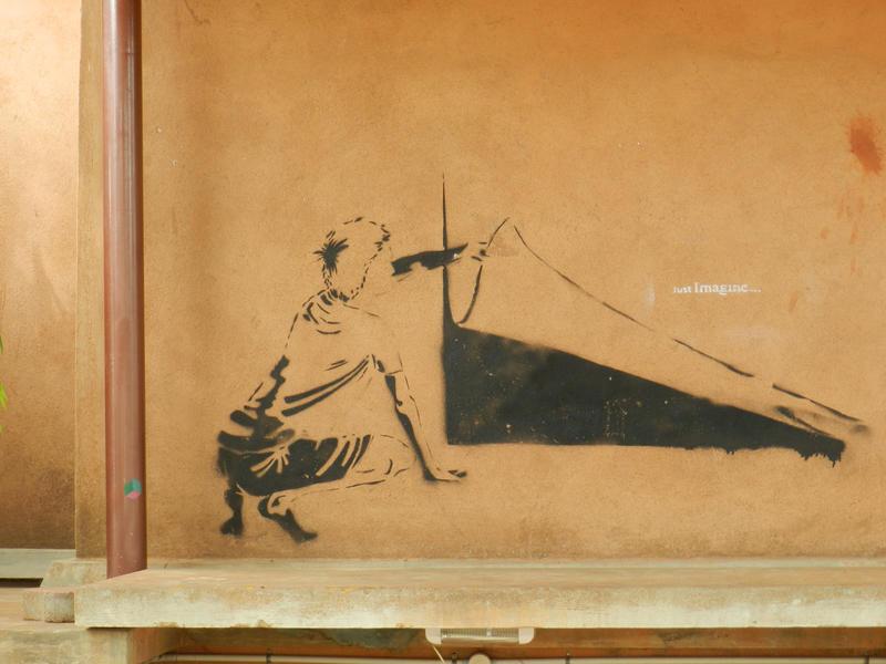 Photographer:surpindia.wordpress.com | Street art at Solar Cafe on the Solar Kitchen terrace.