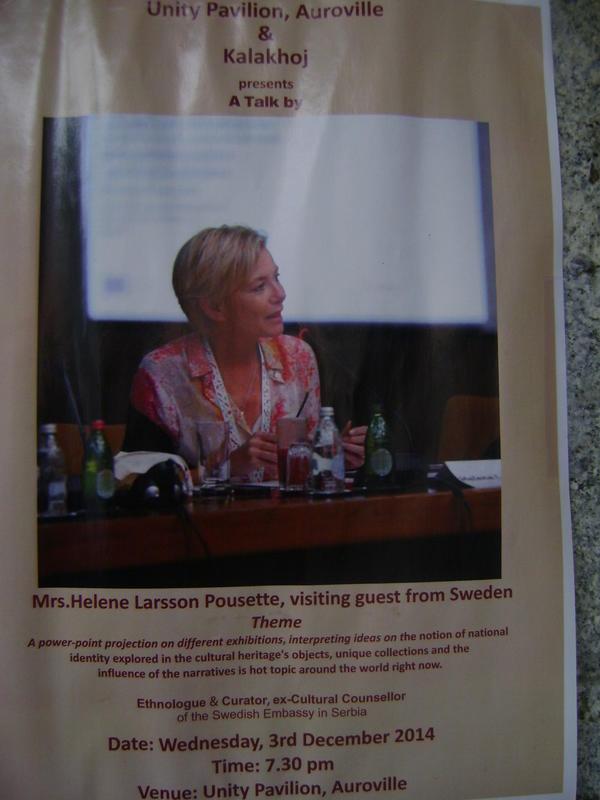 Photographer:Barbara   Talk by Mrs.Helene Larsson Pousette