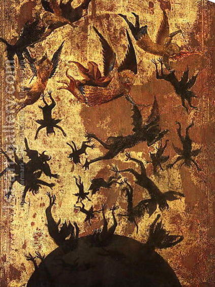 Photographer:Unknown early 1300 (Musee de Louvre, Paris, France) | The Fall of the Rebel Angels