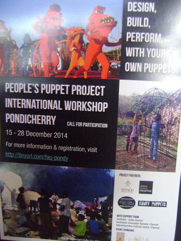 Photographer:Martha | People's Puppet Project Pondihcerry