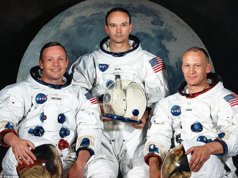 Photographer:Web; www.dailymail.co.uk | Armstrong, Collins, Aldrin- Apollo 11