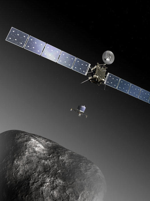 Photographer:Web; Philea sci.esa.int | Rosetta and comet 67P/Churyumov-Gerasimenko