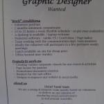graphic designer nedded