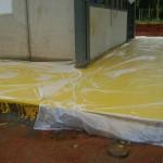 new volunteers rooms with floor painted in TM values