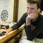 Lionel at the Radio studio