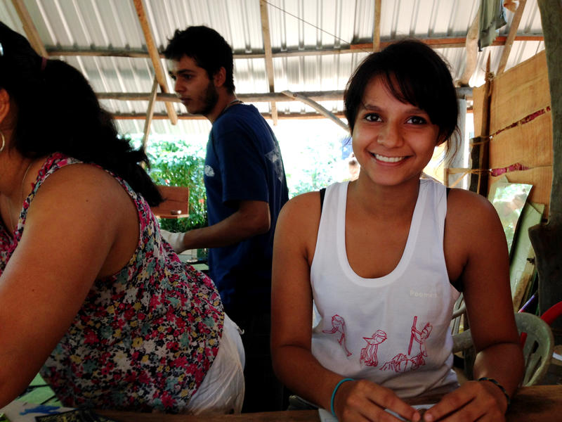 Photographer:Andrea | Mohana working at Youth Centre foreign exchange