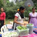 Anandi (centre) runs the Satchitananda organic restaurant in Auroville