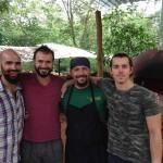 The pizza team... From left Antonello, Rob, Antonio and Daniel