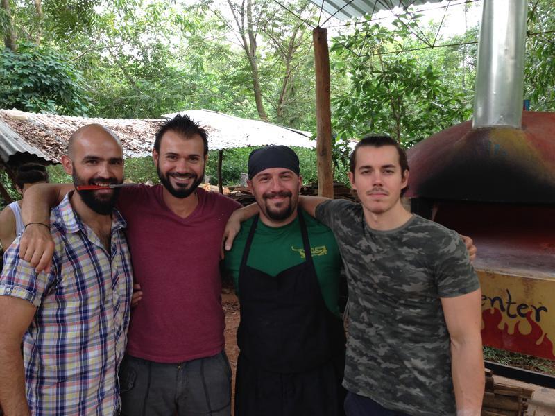 Photographer:Andrea | The pizza team... From left Antonello, Rob, Antonio and Daniel