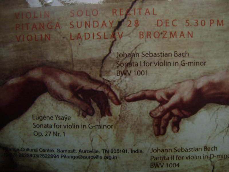 Photographer:web | Violin Solo Recital at Ptianga by Vladislav on Sunday at 5.30pm