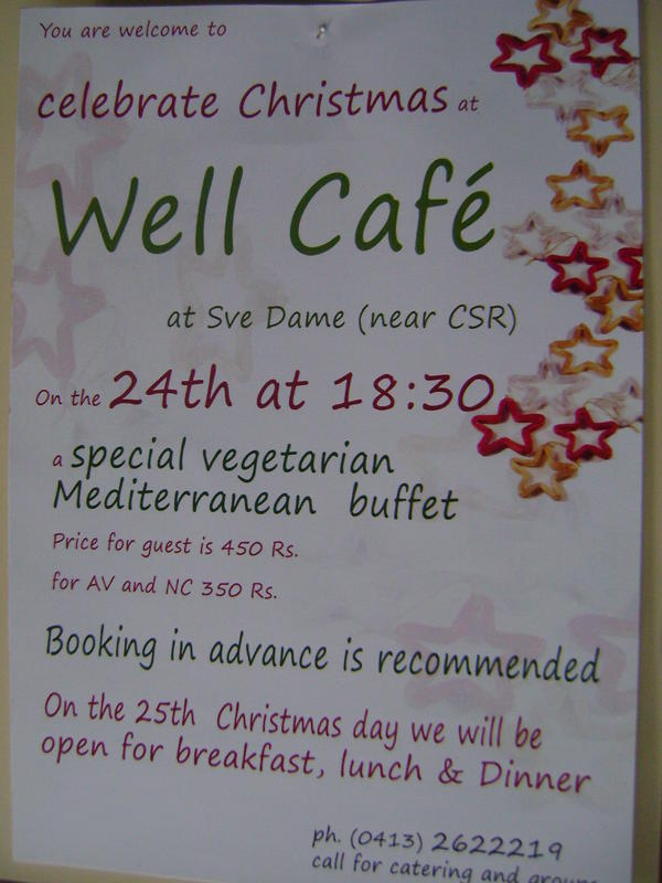 Photographer:web | Xmass dinner at Well Cafe, Visitor Centre,