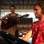 Angeline and Thomas rehearsing before the concert