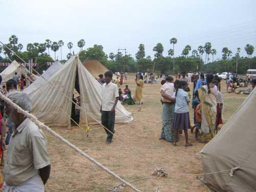 Photographer:www.auroville.org (old)   Tsunami Relief Camp