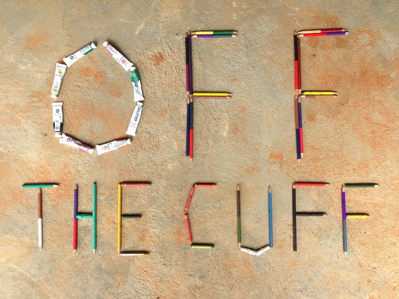 Photographer:Andrea | Off the Cuff cover. Concept by Andrea