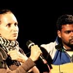 Anna Taj and Saga at the guitar