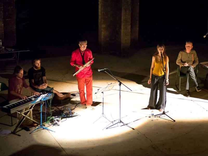 Photographer:Olivier Malcor | The band was formed of Aurovillians, volunteers and guests