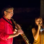 Saxophonist Paul and singer Clementine