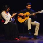 Shehzeen Cassum accompanied by Chris on guitar