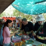 Fundraising buffet lunch by the beach of Sri Ma at Auroville