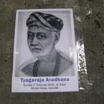 Sri Tyagaraja Aradhana* Under the auspices of Tamil Heritage Centre and Telugu Samskritika Kendramu