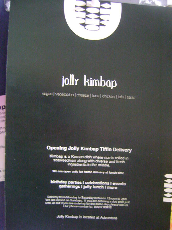 Photographer:Alma | jolly kimbop delivered to your door