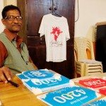 Anand Prasad in front of the bibs
