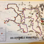 The map of the 8th Auroville's Marathon