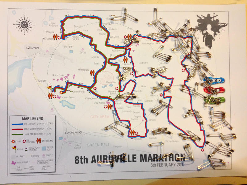 Photographer:Andrea | The map of the 8th Auroville's Marathon
